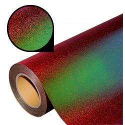 Folia glass glitter PU GG04 red