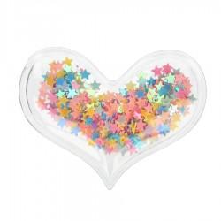 Aplikacja przezroczysta Serce z różowymi gwiazdkami