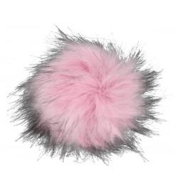Pompon z eko futra 13cm Jasny różowy
