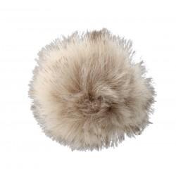 Pompon naturalny z lisa 10cm Brązowy