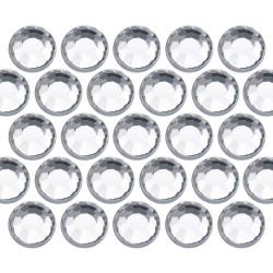 Glass rhinestone beads SS10 (3mm) Crystal