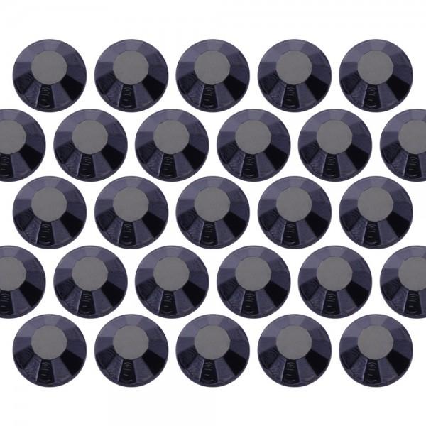 Glass rhinestone beads SS6 (2mm) Jet Black