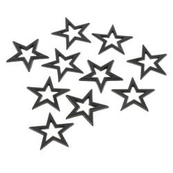 Convex hot fix Gwiazdka 25x25 mm czarna
