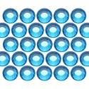 Glass rhinestone beads SS6 (2mm) Aquamarine