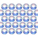 Glass rhinestone beads SS6 (2mm) AB Crystal