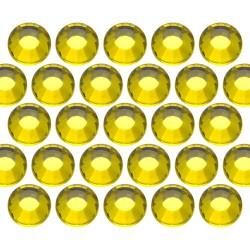 Glass rhinestone beads SS6 (2mm) Citrine