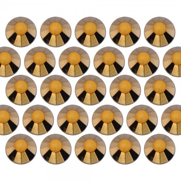 Glass rhinestone beads SS6 (2mm) Gold Hematite