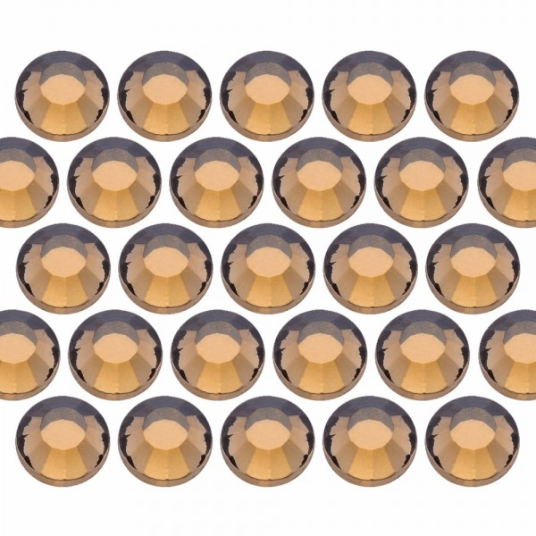 Glass rhinestone beads SS6 (2mm) Colorado Topaz